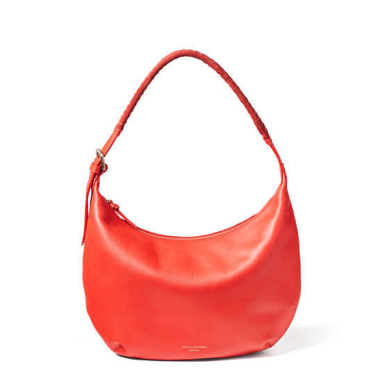 Alice Hobo in Orange Pebble from Aspinal of London