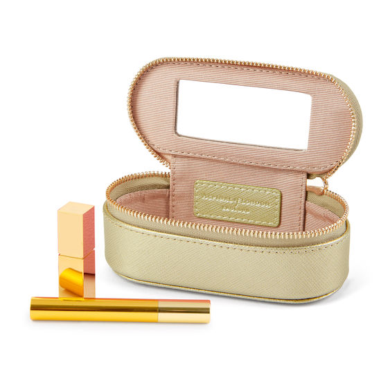 Handbag Tidy All in Gold Saffiano from Aspinal of London