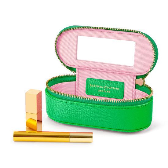 Handbag Tidy All in Bright Green Saffiano from Aspinal of London