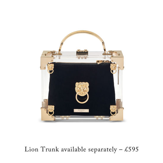 Trunk Clutch Internal Pouch in Navy Velvet from Aspinal of London