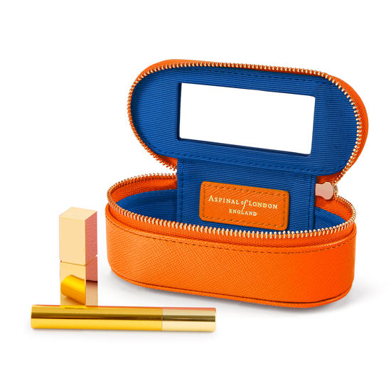 Handbag Tidy All in Bright Orange Saffiano from Aspinal of London