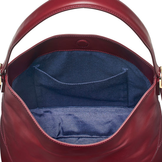 Aspinal Hobo in Smooth Bordeaux from Aspinal of London