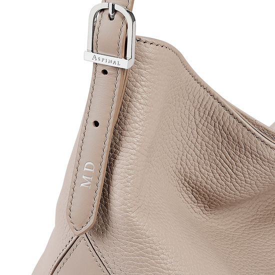 Aspinal Hobo in Soft Taupe Pebble from Aspinal of London