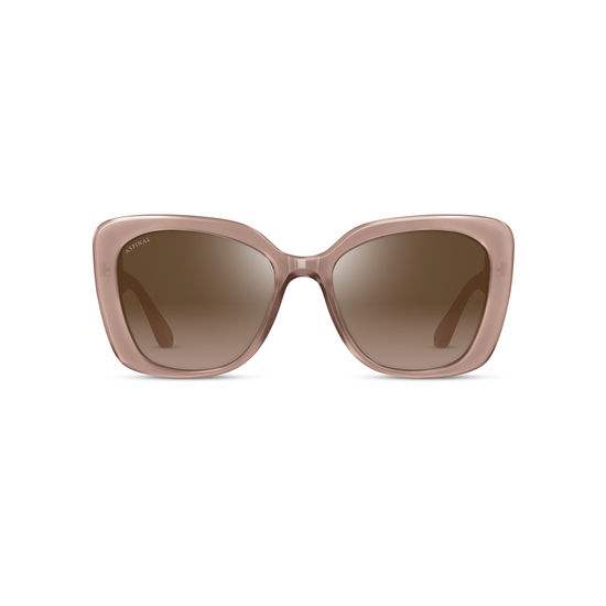 Ladies' Palermo Sunglasses in Mink Acetate from Aspinal of London
