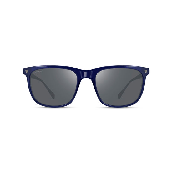 Men's Roma Sunglasses in Midnight Blue Acetate from Aspinal of London