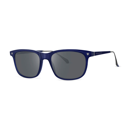 Roma Sunglasses in Midnight Blue Acetate from Aspinal of London