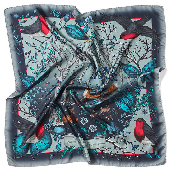Robin Silk Scarf in Midnight Blue from Aspinal of London