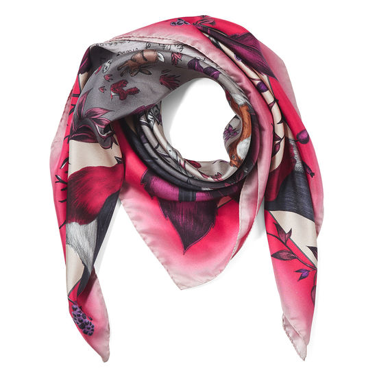 Robin Silk Scarf in Magenta from Aspinal of London