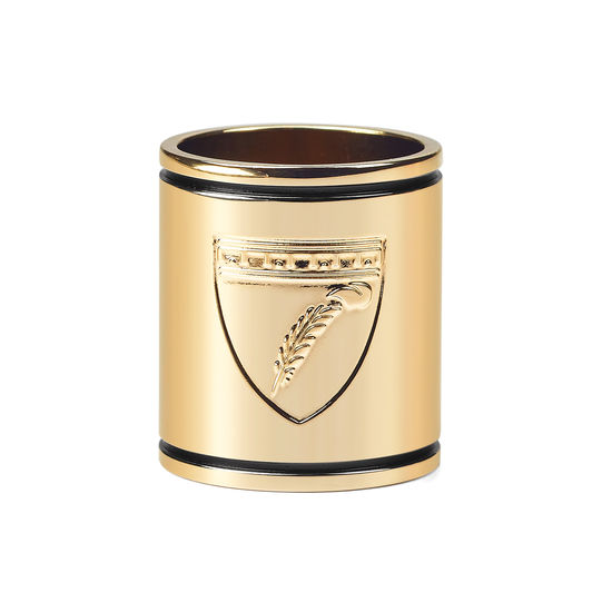 Aspinal Shield Scarf Ring in Gold from Aspinal of London