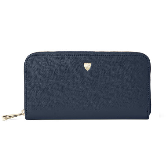 Continental Purse in Navy Saffiano from Aspinal of London
