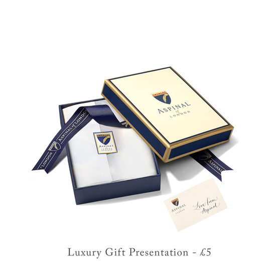 Business Card Holder in Navy Saffiano & Smooth Navy from Aspinal of London