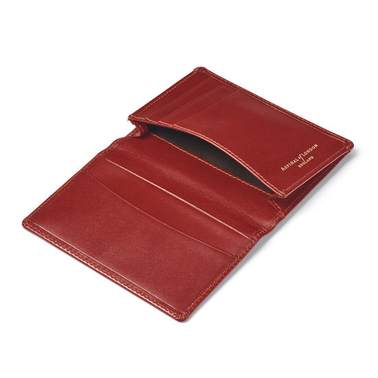 Business Card Holder in Smooth Cognac from Aspinal of London