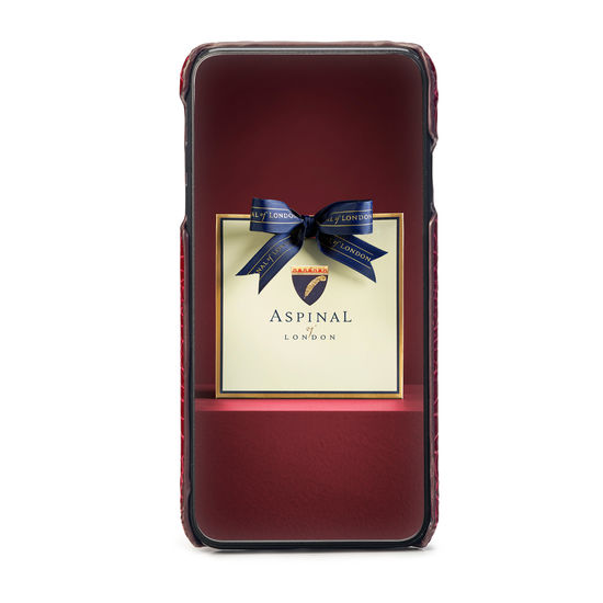 iPhone Xs Max Case in Bordeaux Patent Croc from Aspinal of London