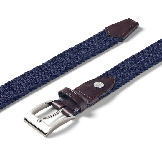 Braided Jeans Belt in Navy from Aspinal of London