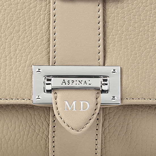 Lottie Bag in Soft Taupe Pebble from Aspinal of London