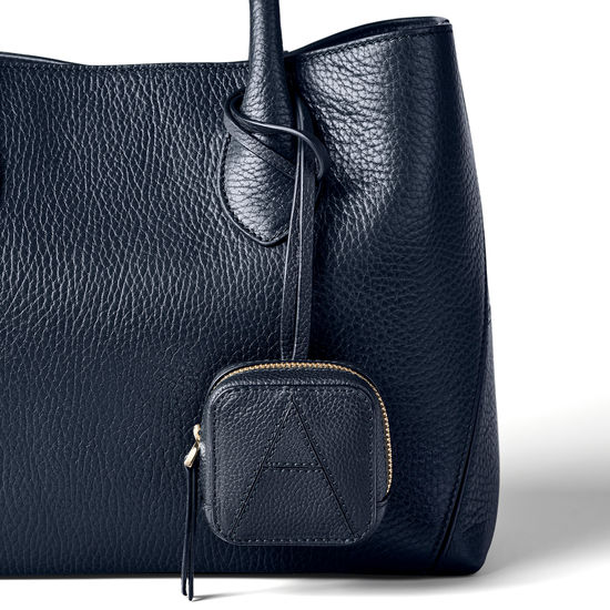Mini London Case in Navy Pebble from Aspinal of London