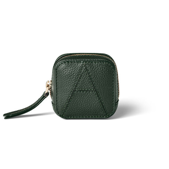 Mini London Case in Evergreen Pebble from Aspinal of London