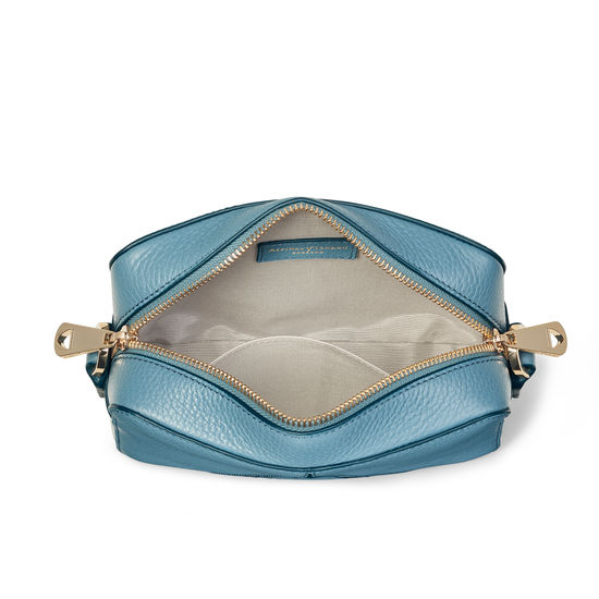Camera 'A'  Bag in Cornflower Pebble from Aspinal of London