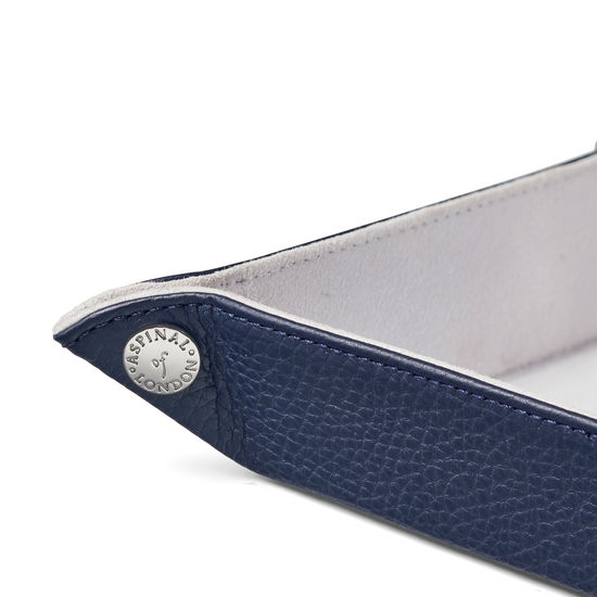 Mini Tidy Tray in Navy Pebble from Aspinal of London