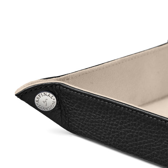 Mini Tidy Tray in Black Pebble from Aspinal of London