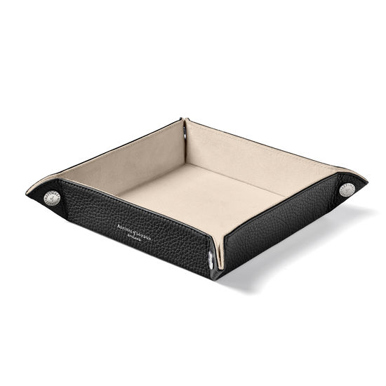 Medium Tidy Tray in Black Pebble from Aspinal of London