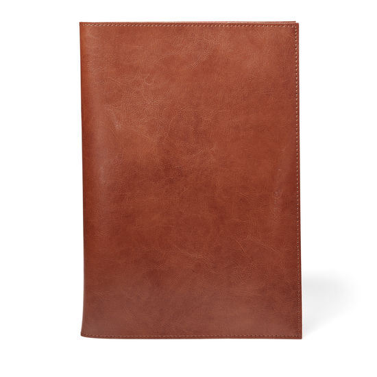 Rustic A4 Refillable Leather Journal in Smooth Antique Brown from Aspinal of London