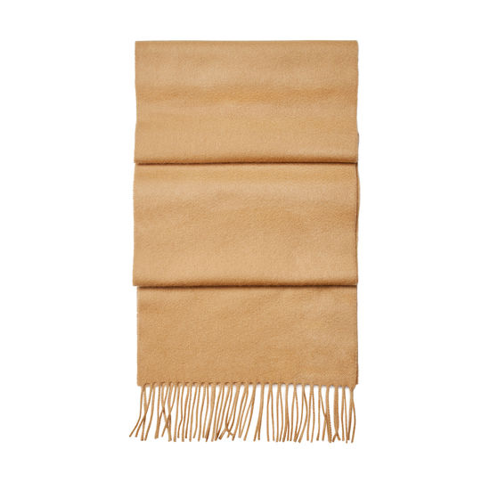 Pure Cashmere Scarf in Camel from Aspinal of London