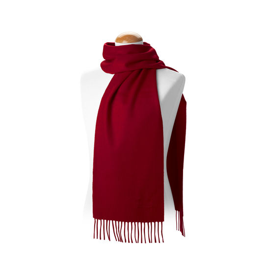 Pure Cashmere Scarf in Burgundy from Aspinal of London