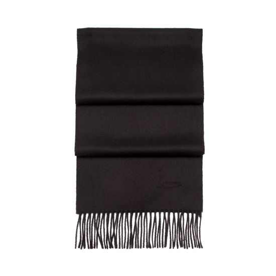 Pure Cashmere Scarf in Black from Aspinal of London