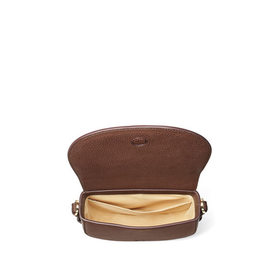 Small Stella Satchel in Chestnut Pebble from Aspinal of London