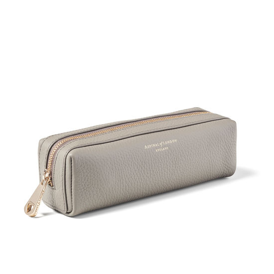 Small London Case in Warm Grey Pebble from Aspinal of London