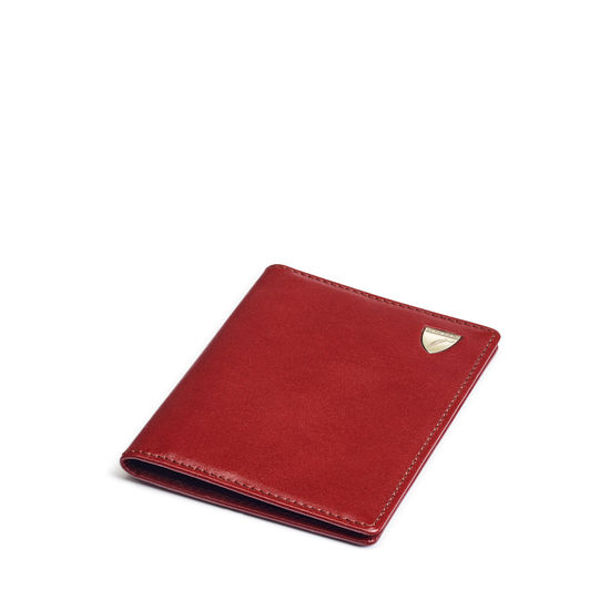 Double Fold Credit Card Holder in Smooth Cognac from Aspinal of London