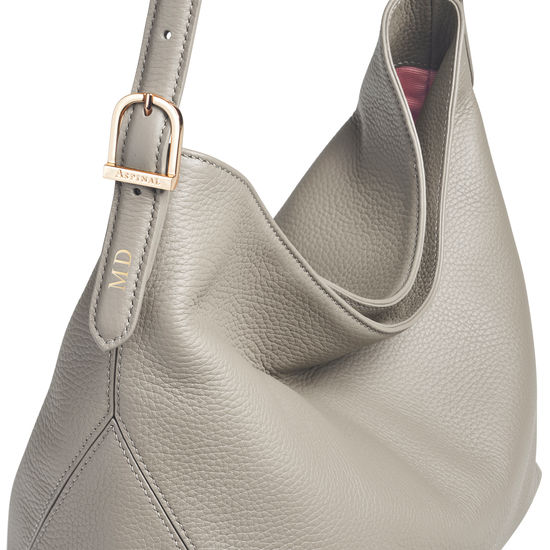 Aspinal Hobo in Warm Grey Pebble from Aspinal of London