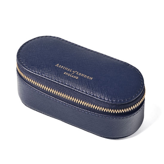 Handbag Tidy All in Navy Saffiano from Aspinal of London