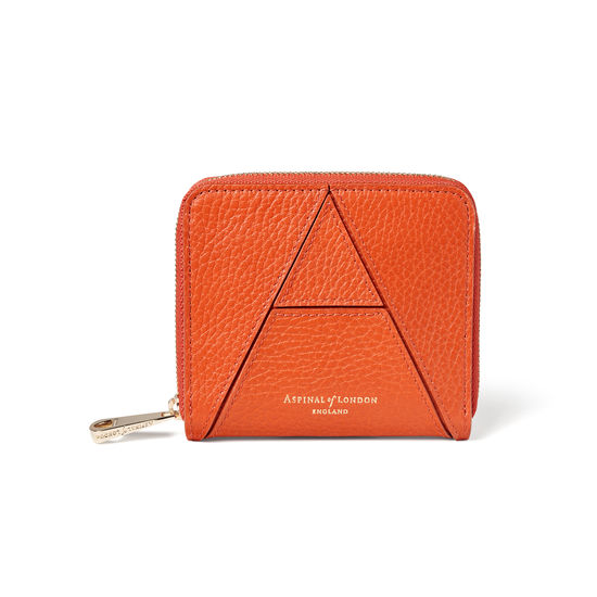 'A' Purse in Marmalade Pebble from Aspinal of London