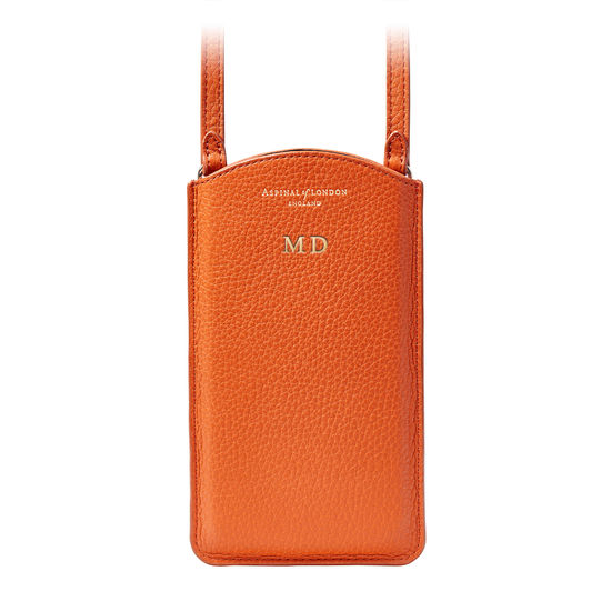 London Phone Case in Marmalade Pebble from Aspinal of London