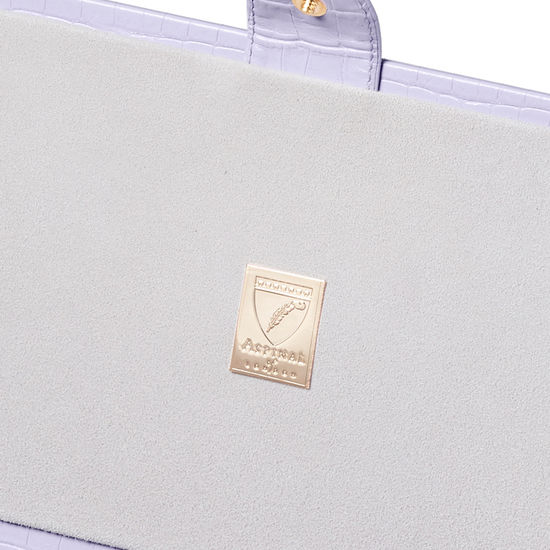 Paris Jewellery Box in Deep Shine English Lavender Small Croc from Aspinal of London