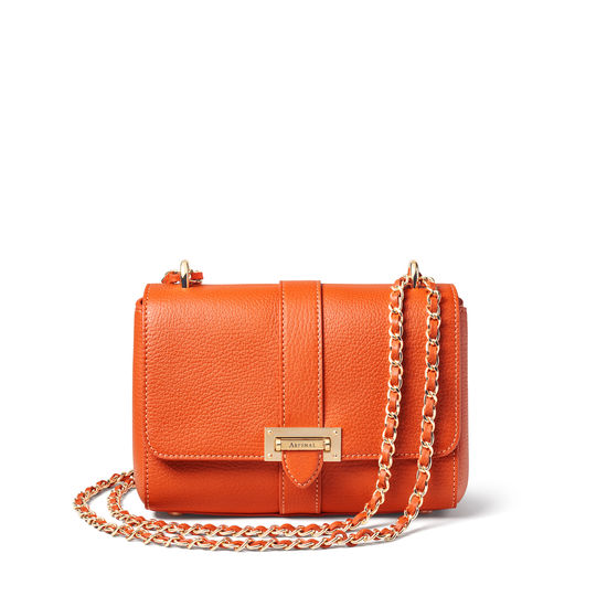 Lottie Bag in Marmalade Pebble from Aspinal of London