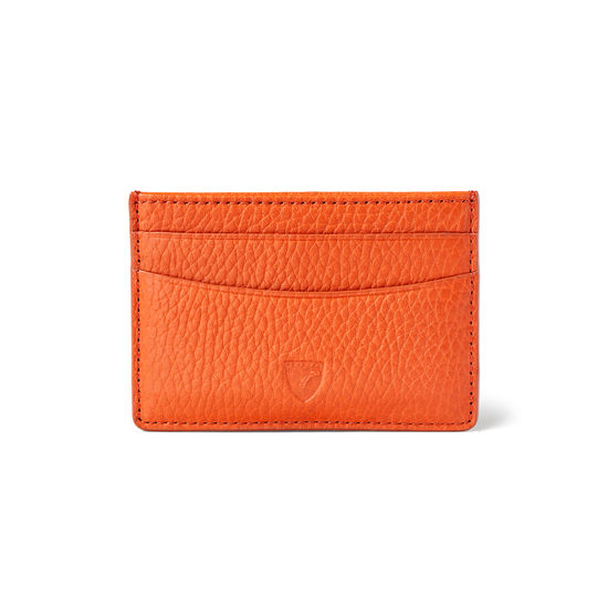Slim Credit Card Holder in Marmalade Pebble from Aspinal of London
