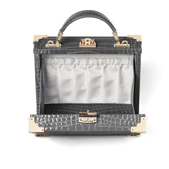 The Trunk in Storm Patent Croc from Aspinal of London