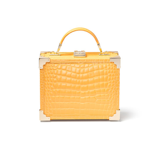 The Trunk in Meadow Patent Croc from Aspinal of London