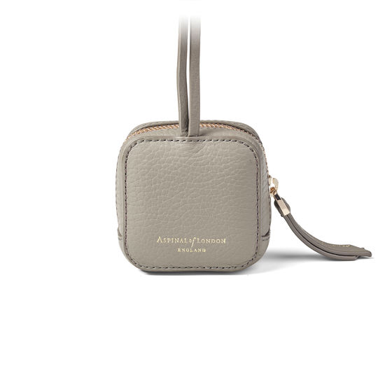 Mini London Case in Warm Grey Pebble from Aspinal of London