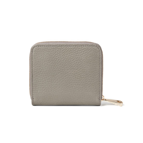 'A' Purse in Warm Grey Pebble from Aspinal of London