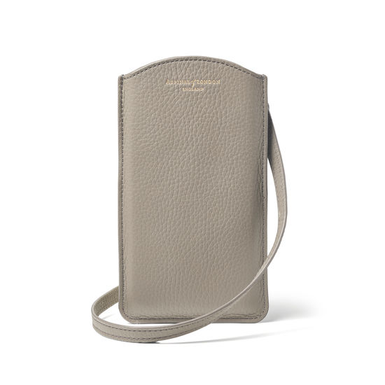 London Phone Case in Warm Grey Pebble from Aspinal of London