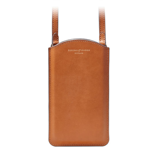 London Phone Case in Smooth Tan from Aspinal of London