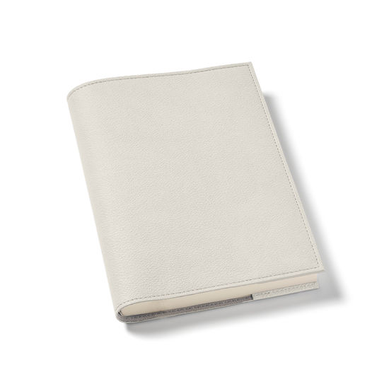 A5 Vegan Refillable Journal in Ivory AppleSkin™ from Aspinal of London