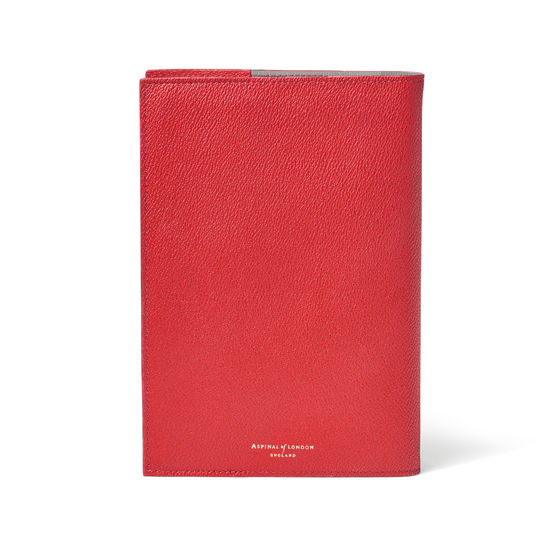 A5 Vegan Refillable Journal in Red AppleSkin™ from Aspinal of London