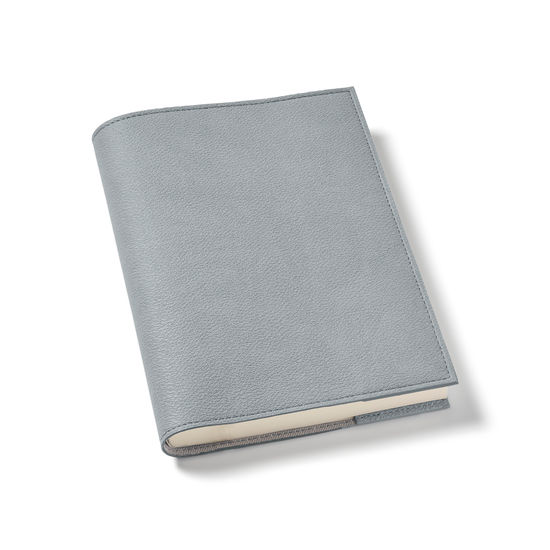 A5 Vegan Refillable Journal in Dark Grey AppleSkin™ from Aspinal of London