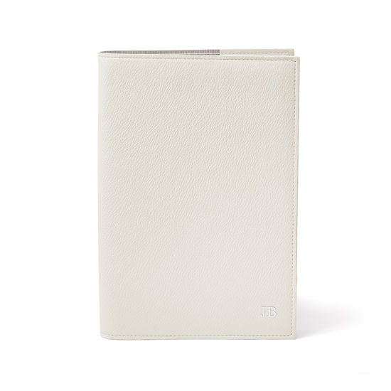 A5 Vegan Refillable Journal in Ivory Apple Skin™ from Aspinal of London