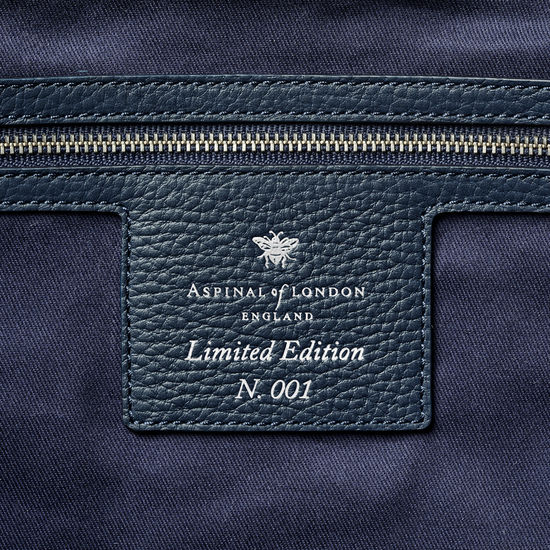London Tote in Navy Canvas from Aspinal of London